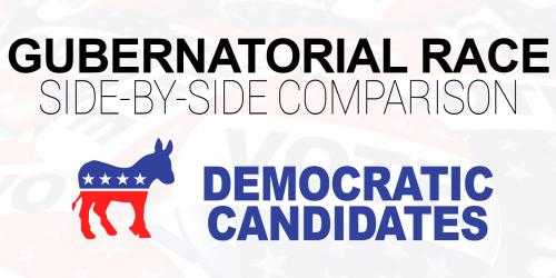 NJ Gubernatorial Race Democratic Candidates